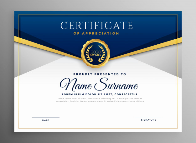Award Certificate Template Free Download New Award Certificate Vectors S and Psd Files