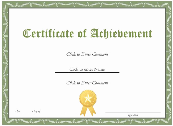 Award Certificate Template Free Download New Certificate Template Word