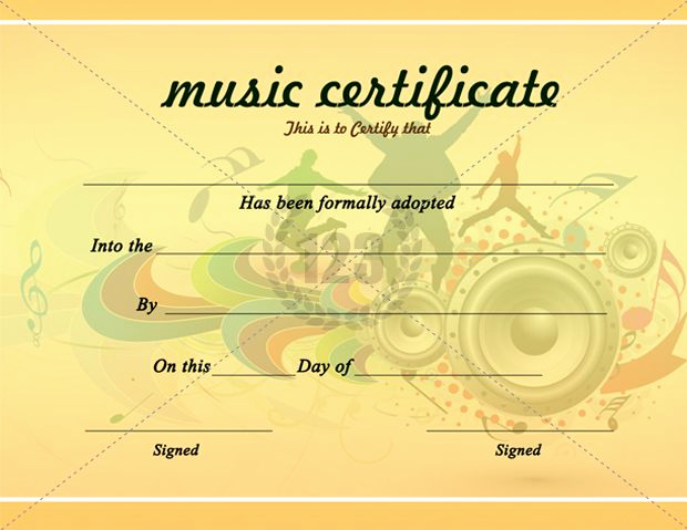 Award Certificate Template Free Download Unique Beautiful Music Certificate Templates for Free Download