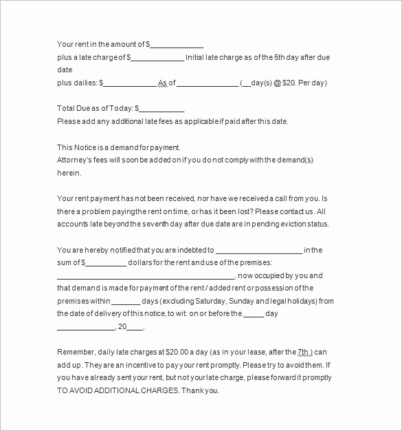 Baby Eviction Notice Template Awesome 22 Sample Eviction Notice Templates Pdf Google Docs