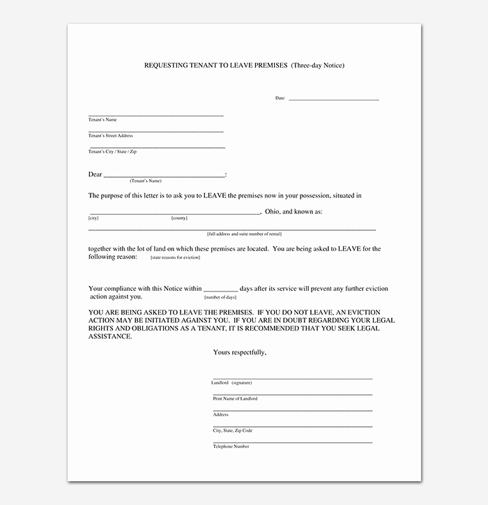Baby Eviction Notice Template Awesome Eviction Notice 24 Sample Letters & Templates