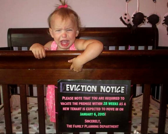 Baby Eviction Notice Template Best Of Chalkboard Pregnancy Announcement for Sibling Eviction