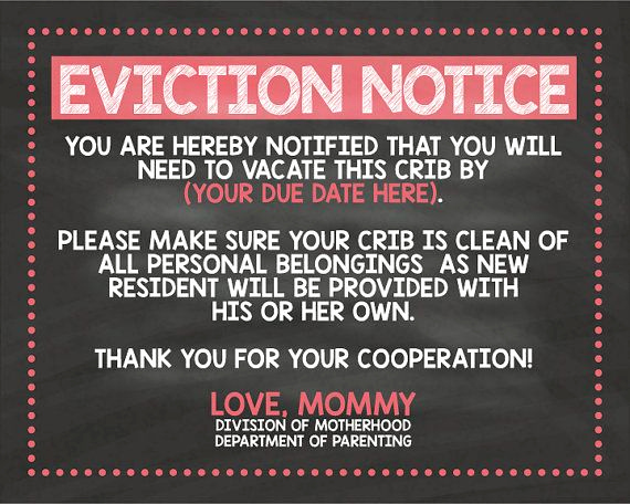 Baby Eviction Notice Template Best Of Pin On Digital Prints