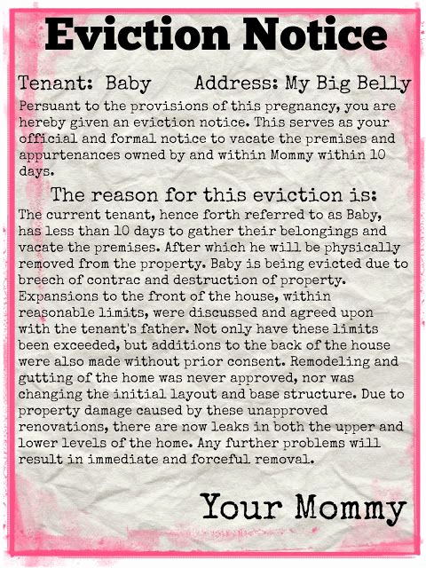 Baby Eviction Notice Template Elegant Pin Op Baby Monster