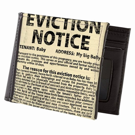 Baby Eviction Notice Template Unique Baby Eviction Notice Mens Wallet by Tsd Art Cafepress