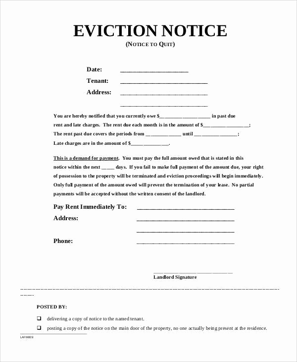 Baby Eviction Notice Template Unique Free 38 Eviction Notice Templates In Pdf