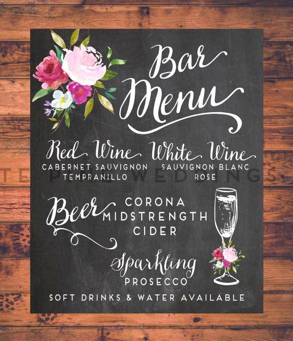 Bar Menu Template Free Beautiful 24 Bar Menu Templates – Free Sample Example format