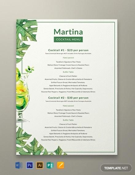 Bar Menu Template Free Elegant 11 Drinks Menu Templates Illustrator Shop Ms Word