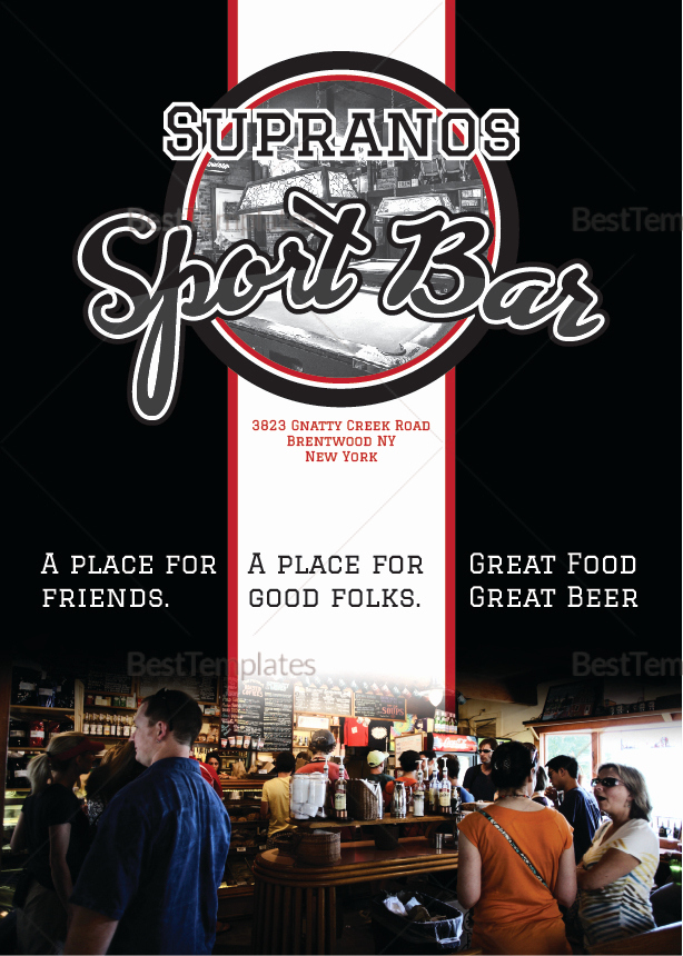 Bar Menu Template Free Inspirational Sports Bar Menu Design Template In Psd Word Publisher