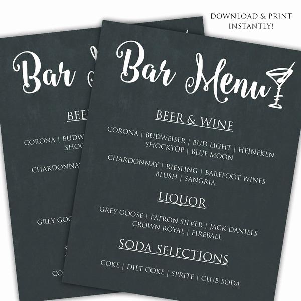 Bar Menu Template Free Unique Printable Diy Bar Menu Template Posh Pixel Designs