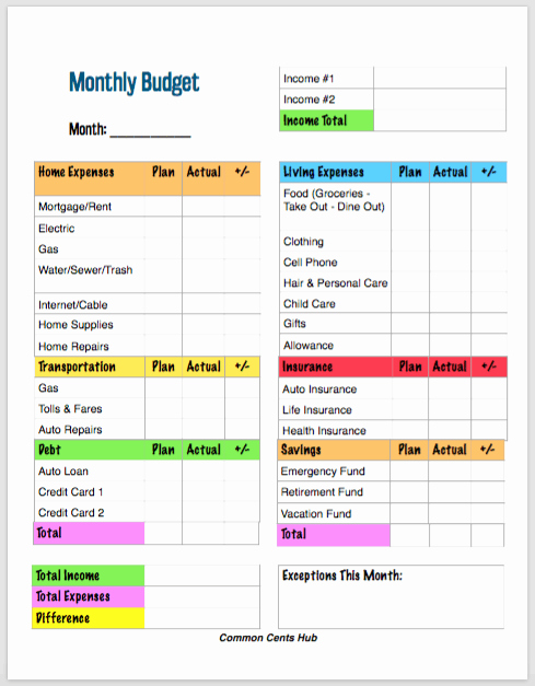 Basic Household Budget Template Inspirational 10 Free Printable Bud Templates that Ll Make Bud Ing Easy