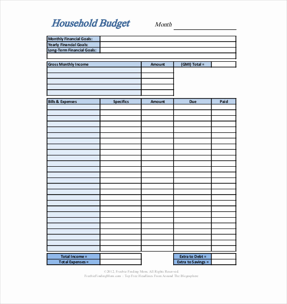 Basic Household Budget Template Inspirational Personal Bud Template 13 Free Word Excel Pdf