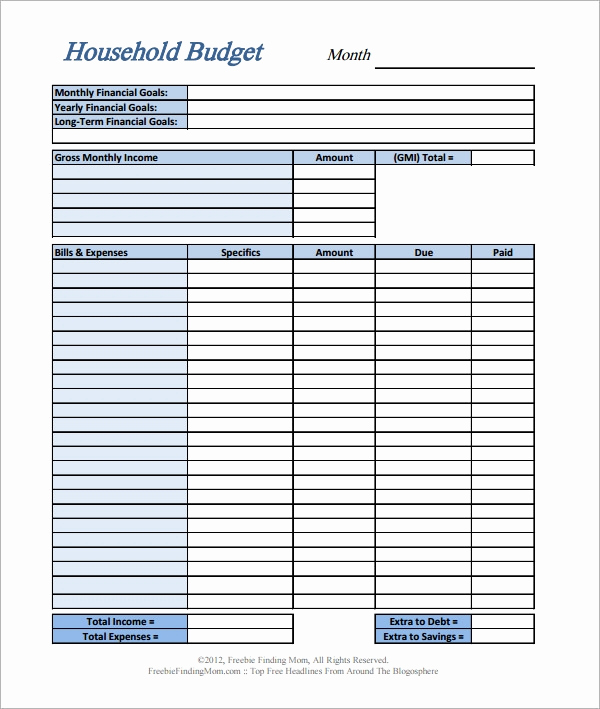 Basic Household Budget Template Luxury Free 13 Home Bud Samples In Google Docs