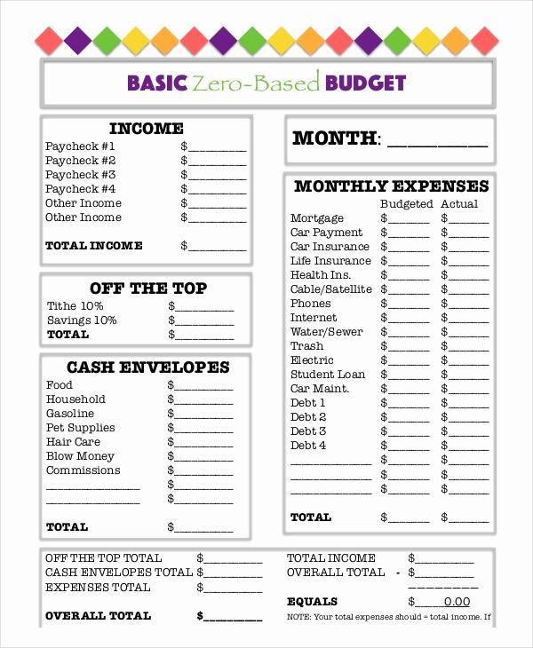 Basic Household Budget Template Luxury Printable Bud Worksheet 22 Free Word Excel Pdf
