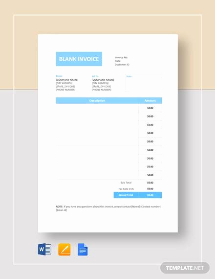 Basic Invoice Template Google Docs Awesome Free 14 Professional Invoice Templates In Word Pdf