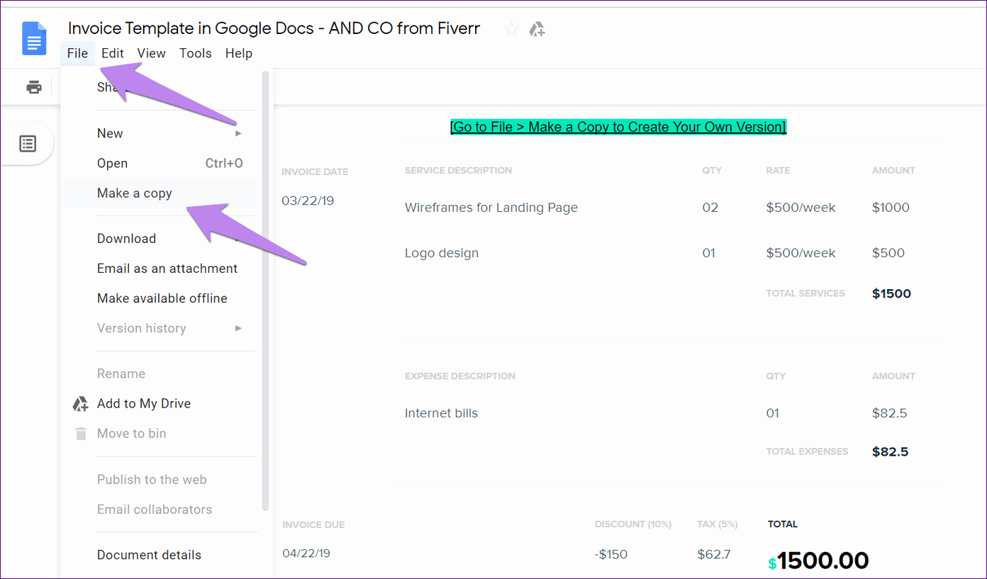 Basic Invoice Template Google Docs Fresh top 5 Free Google Docs Templates to Create Invoices Quickly
