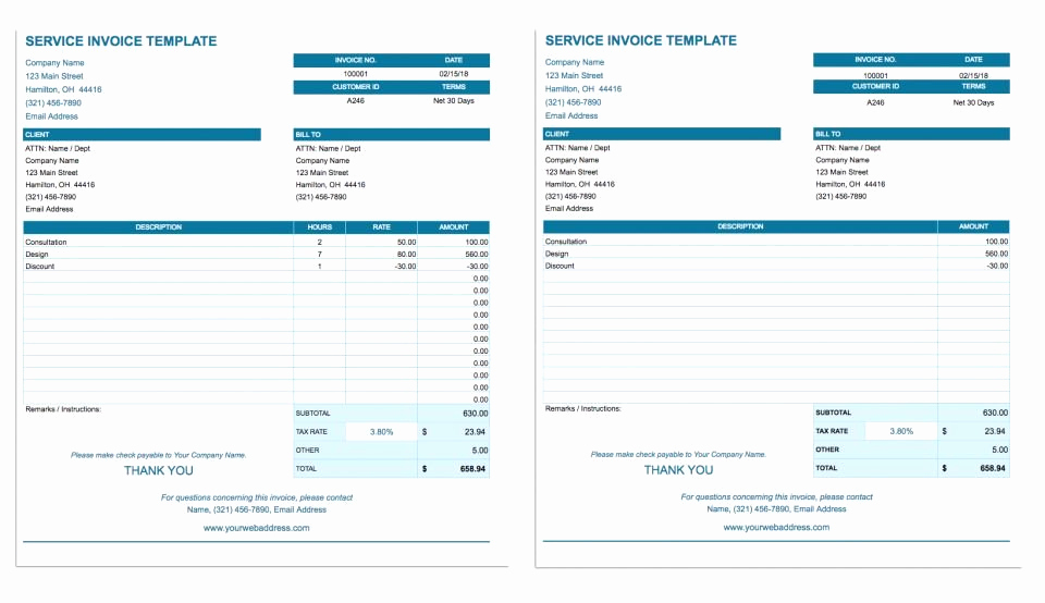 Basic Invoice Template Google Docs Luxury Free Google Docs Invoice Templates