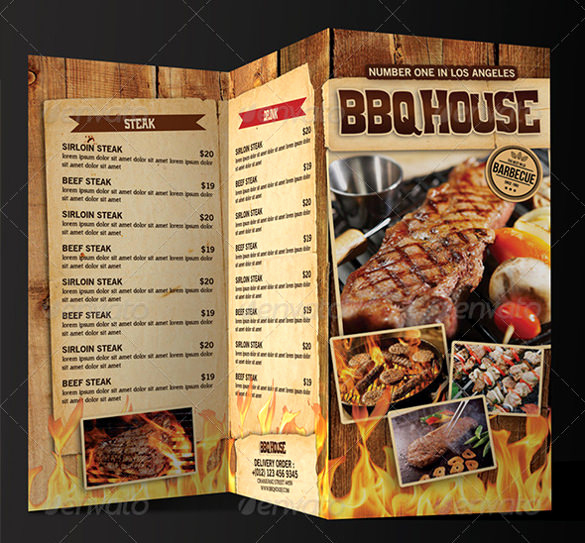 Bbq Catering Menu Template Awesome Bbq Menu Templates – 27 Free Psd Epd Documents Download