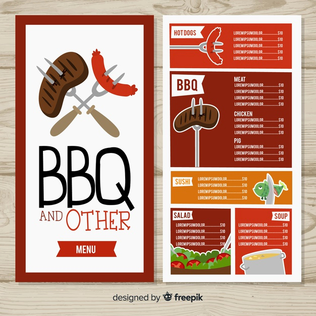 Bbq Catering Menu Template Fresh Bbq Restaurant Menu Template