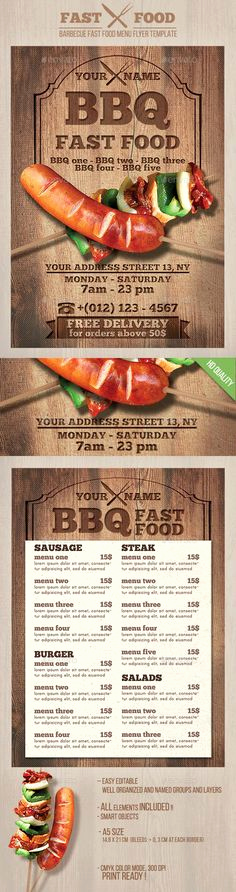 Bbq Menu Template Free Beautiful 1000 Images About Bbq On Pinterest