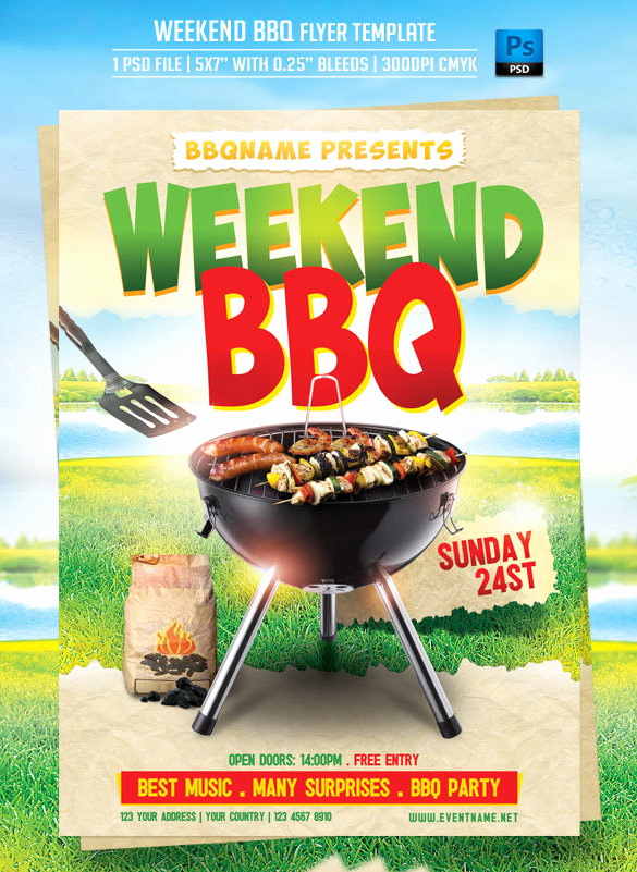 Bbq Menu Template Free Beautiful 20 Bbq Flyer Templates – Free Word Pdf Psd Eps