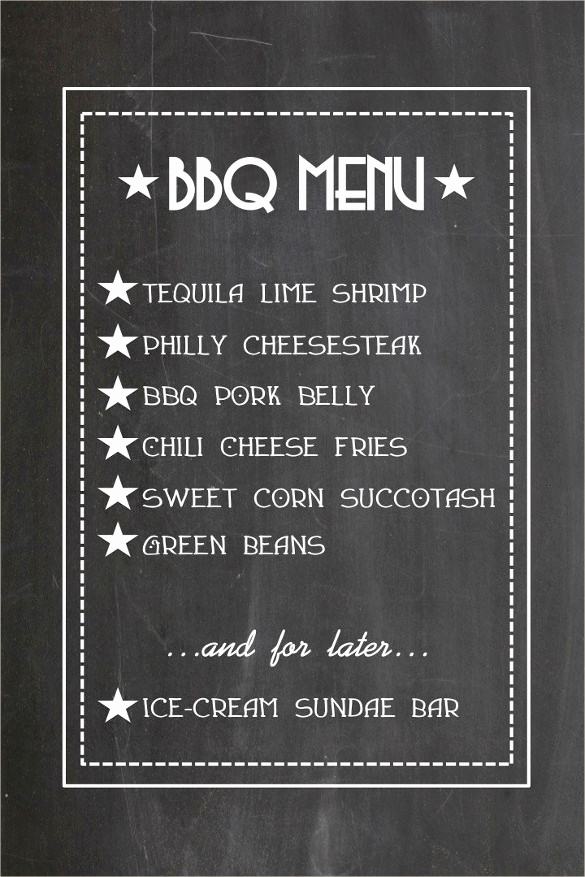 Bbq Menu Template Free Beautiful Bbq Menu Templates – 27 Free Psd Epd Documents Download