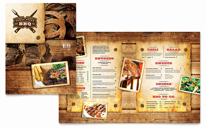 Bbq Menu Template Free Best Of Steakhouse Bbq Restaurant Menu Template Design