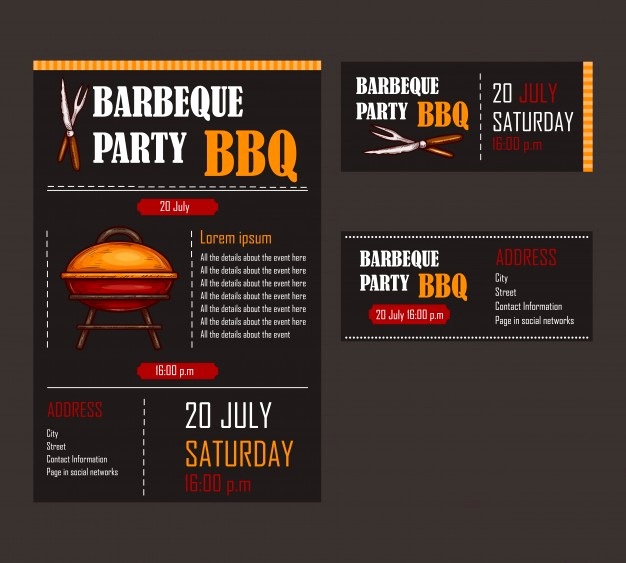 Bbq Menu Template Free Fresh Set Of Vector Illustrations Of A Bbq Menu Template