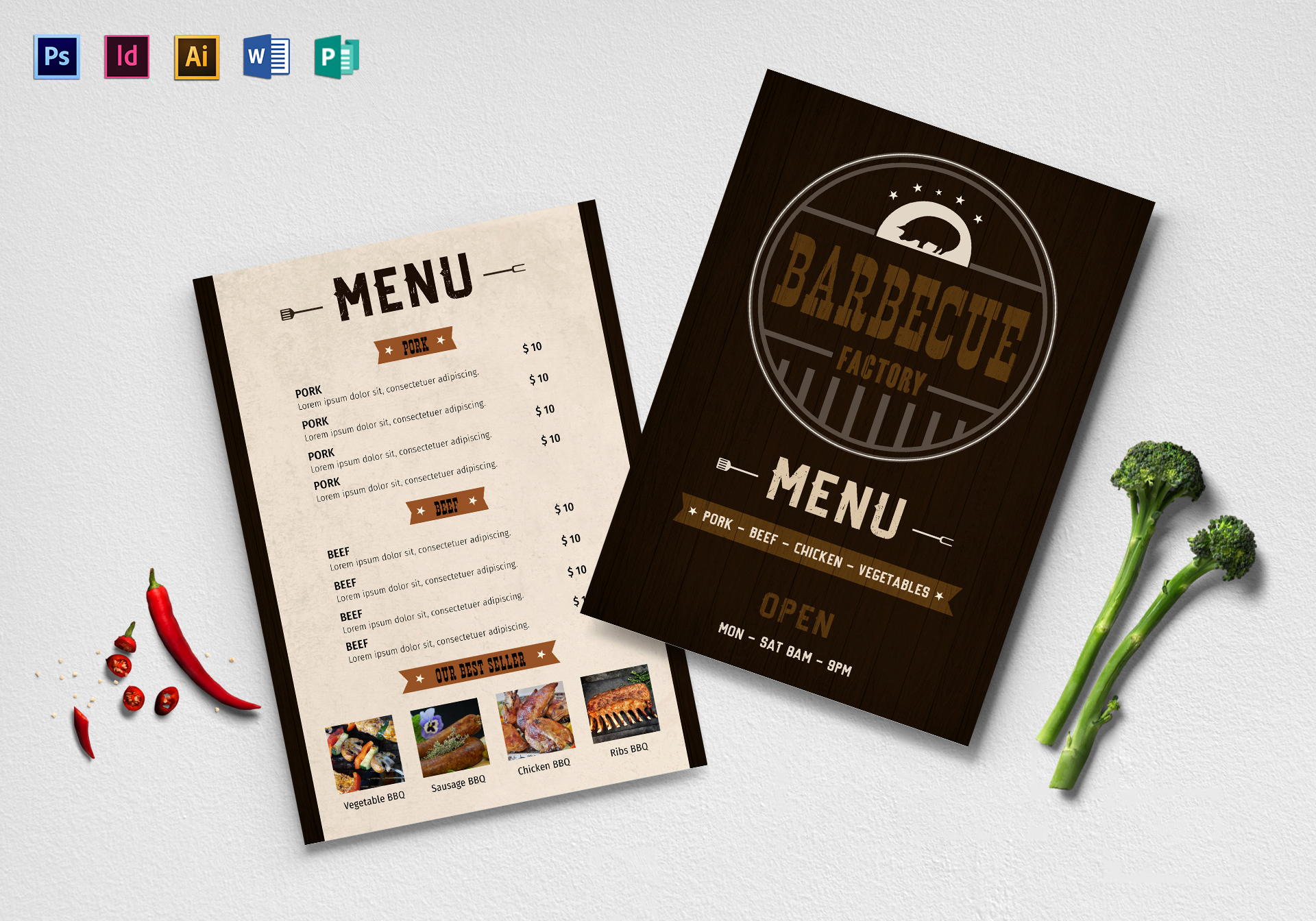 Bbq Menu Template Free Unique Bbq Menu Design Template In Psd Word Publisher