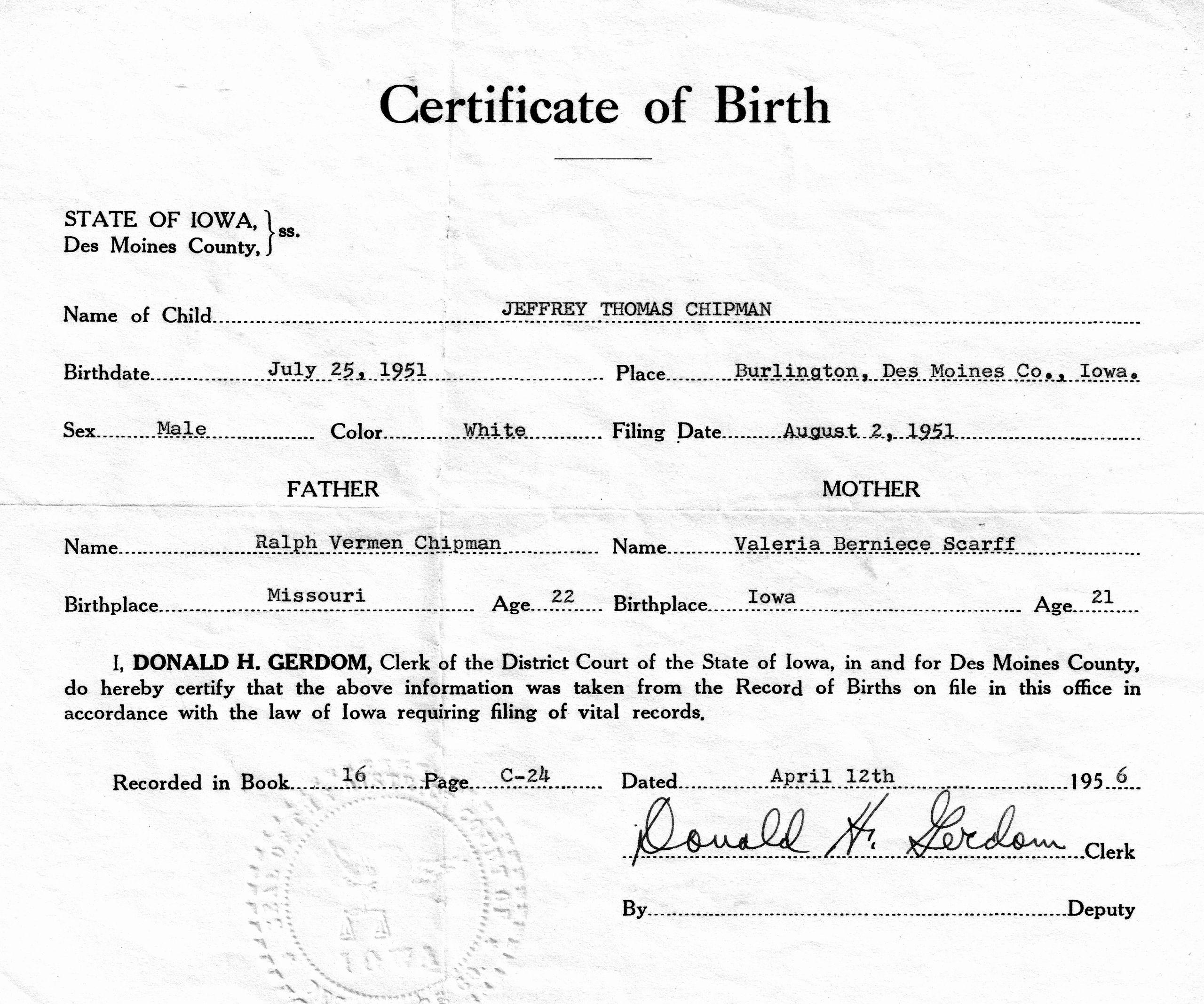 Birth Certificate Template Doc Beautiful 21 Free Birth Certificate Template Word Excel formats