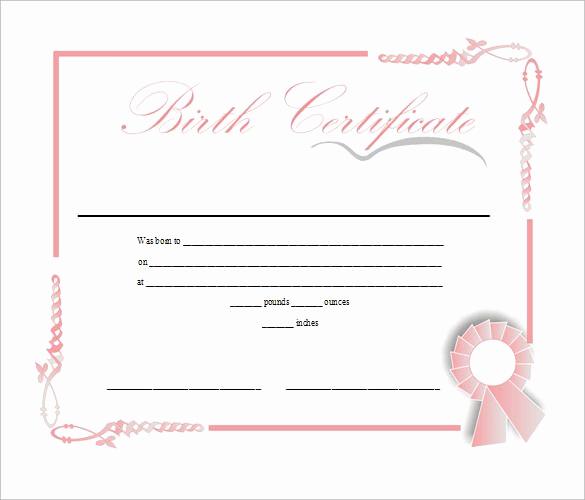 Birth Certificate Template Doc Elegant Birth Certificate Template Free Download In Doc