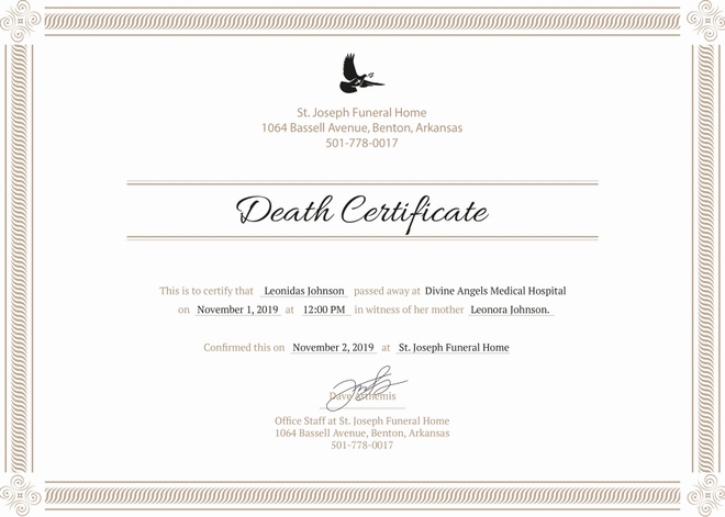 Blank Death Certificate Template Best Of 8 Death Certificate Templates Psd Ai Illustrator Word