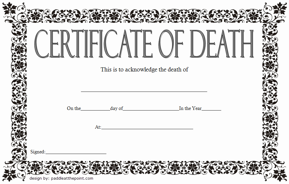 Blank Death Certificate Template Unique Blank Death Certificate Template 7 Unwanted Documents