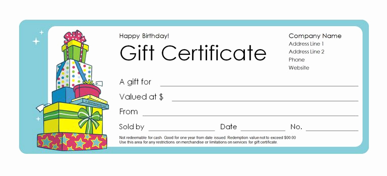 Blank Gift Certificate Template Word Best Of 173 Free Gift Certificate Templates You Can Customize