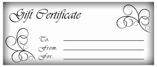Blank Gift Certificate Template Word Elegant 16 Free Simple Gift Certificate Templates