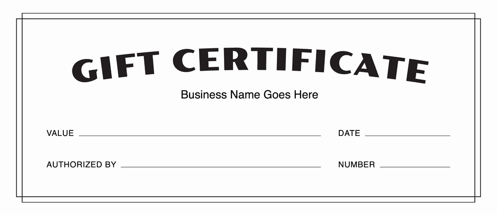 Blank Gift Certificate Template Word Fresh Gift Certificate Templates Download Free Gift