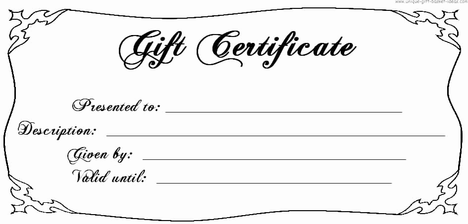 Blank Gift Certificate Template Word Lovely 18 Gift Certificate Templates Excel Pdf formats