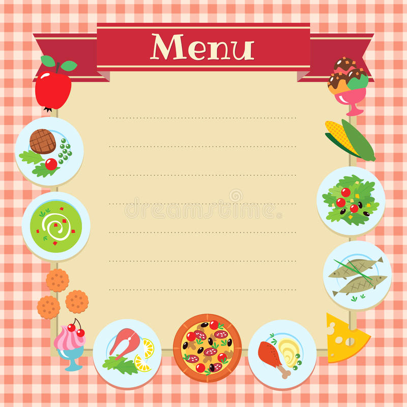 Blank Menu Template Free Download Awesome Cafe Restaurant Menu Template Stock Vector