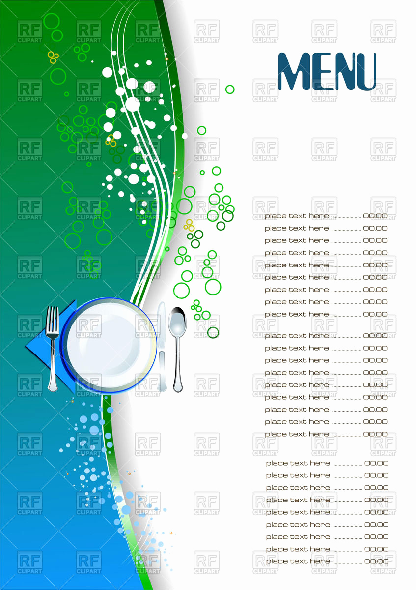 Blank Menu Template Free Download Best Of 26 Of Blank Menu Template Free Download