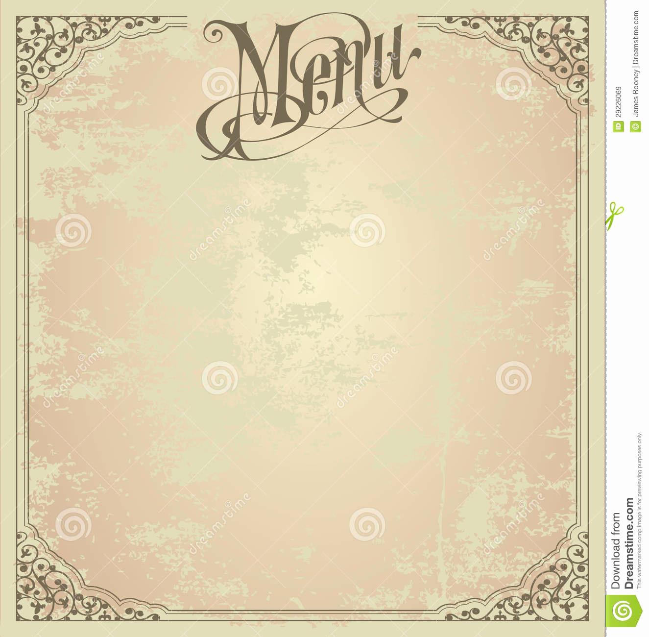 Blank Menu Template Free Download Elegant 6 Best Of Printable Blank Restaurant Menus Free