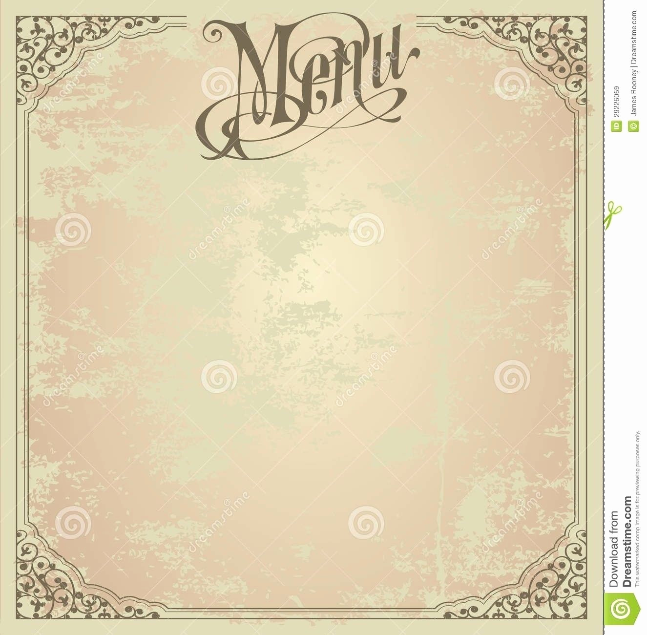 Blank Menu Template Free Download Luxury Blank French Menu Template