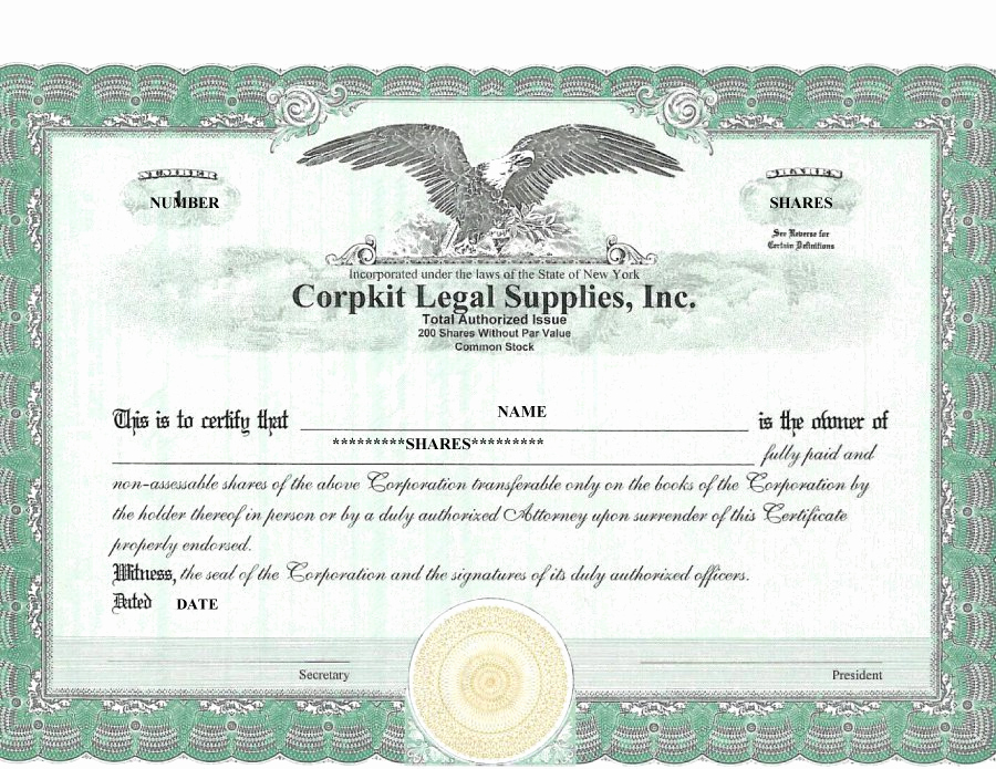 Blank Stock Certificate Template Free Best Of 41 Free Stock Certificate Templates Word Pdf Free