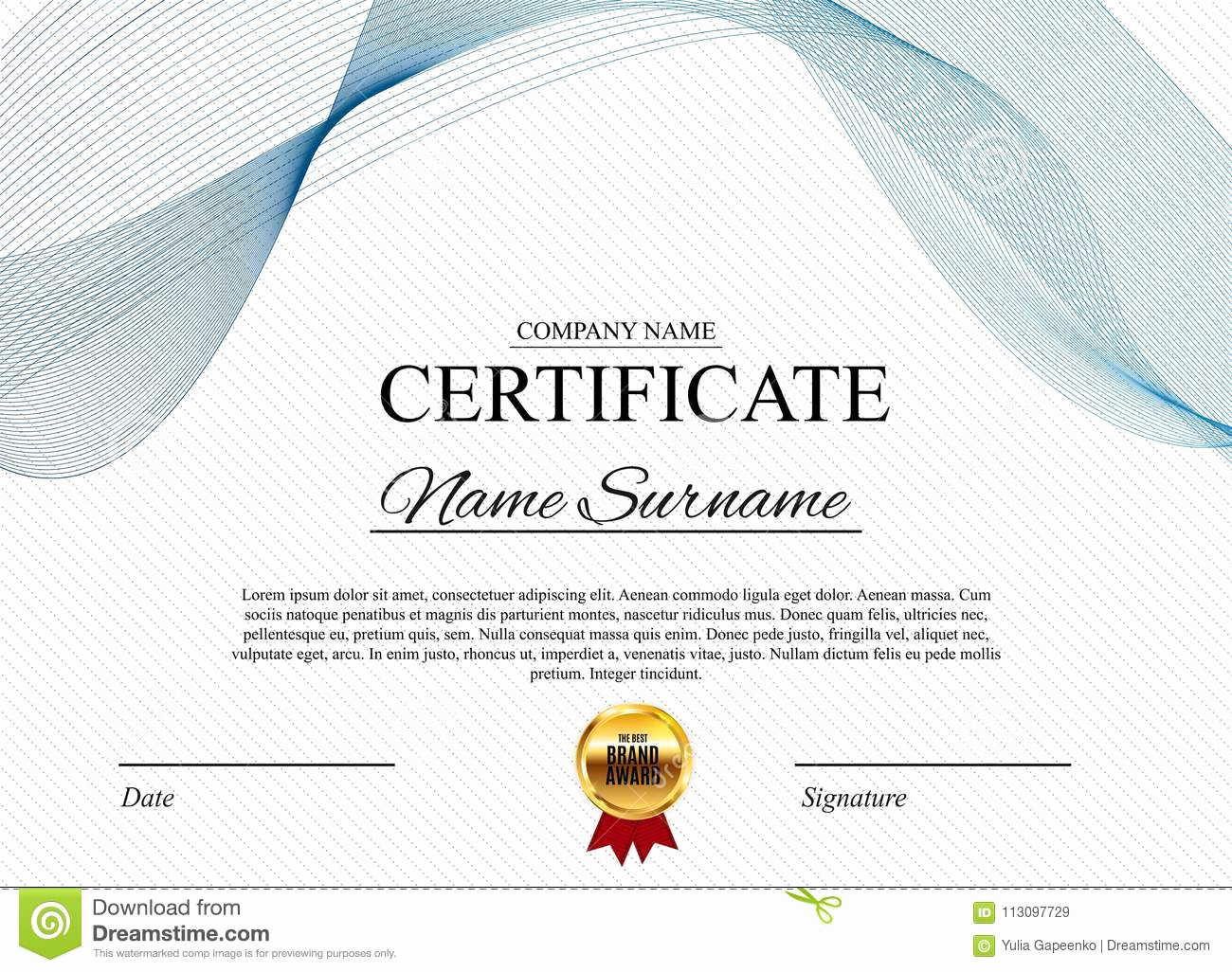 Blank Stock Certificate Template Free Best Of Certificate Template Background Award Diploma Design