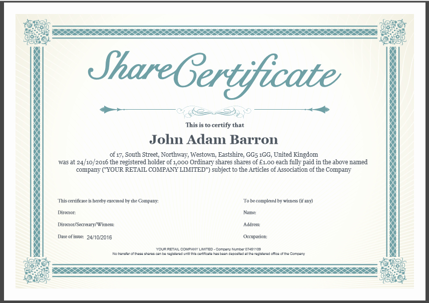 Blank Stock Certificate Template Free Fresh Another Inform Direct Product Update October 2016