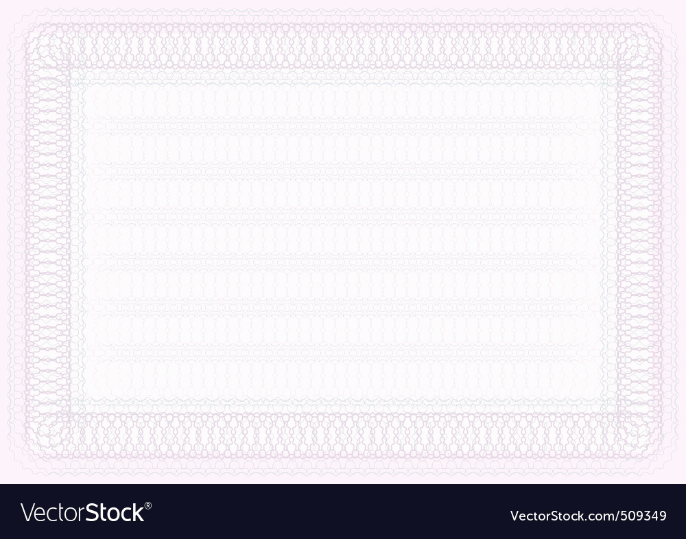 Blank Stock Certificate Template Free Inspirational Blank Certificate Template Royalty Free Vector Image