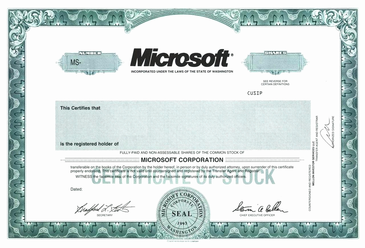 Blank Stock Certificate Template Free Inspirational Blank Free Mon Stock Certificate Template Microsoft Word