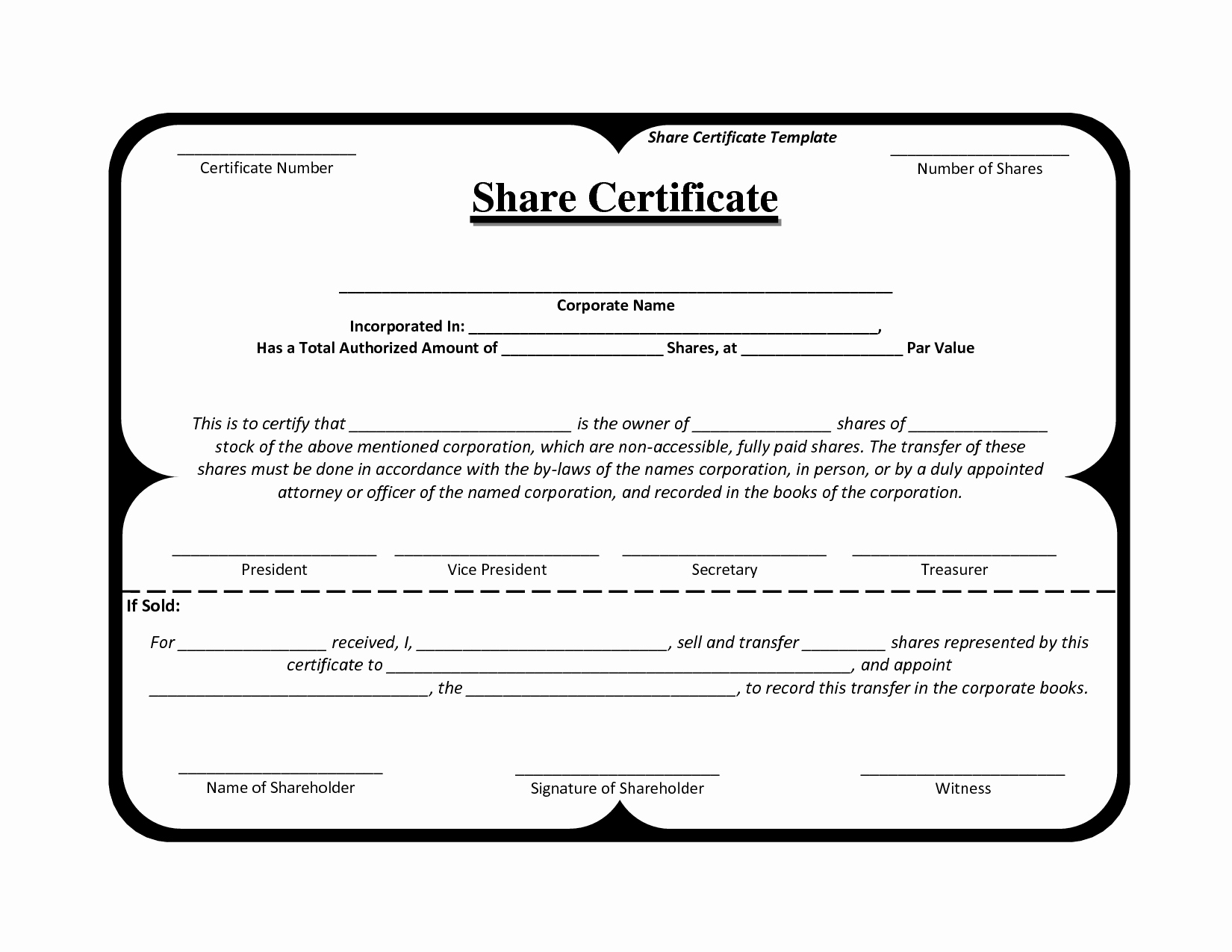 Blank Stock Certificate Template Free Inspirational Certificate Template south Africa – Planner Template