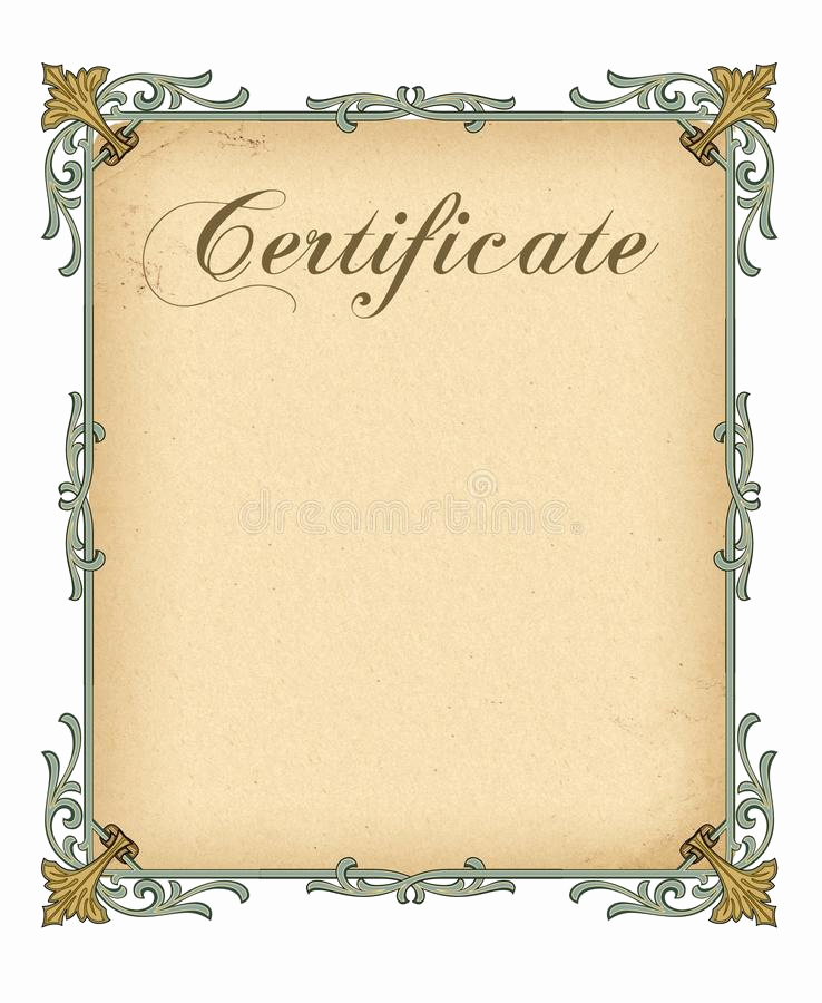 Blank Stock Certificate Template Free Luxury Blank Certificate Template Stock Illustration
