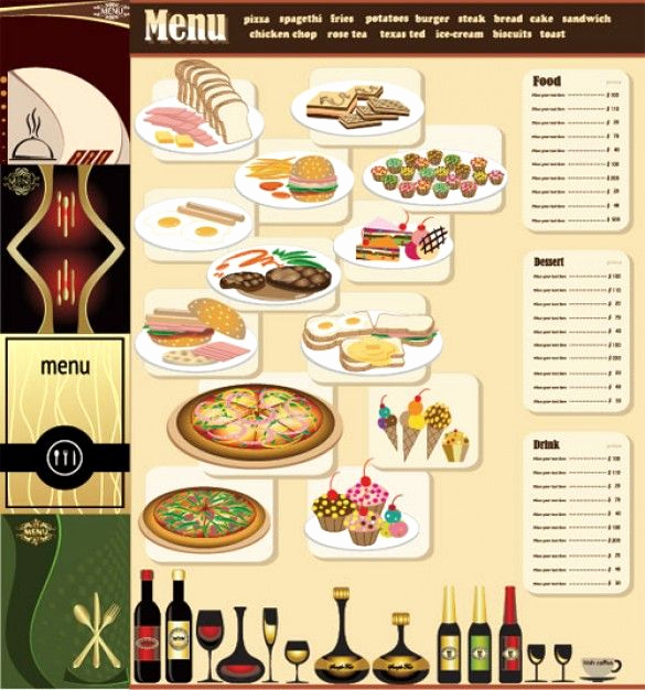 Breakfast Menu Template Free Beautiful Free Table top Restaurant Menu Templates