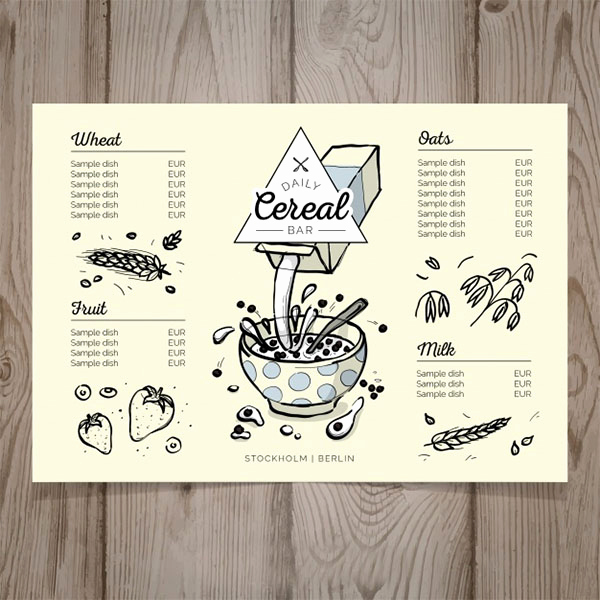 Breakfast Menu Template Free Inspirational 80 Breakfast Menu Templates Free Psd Vector Eps Png Ai